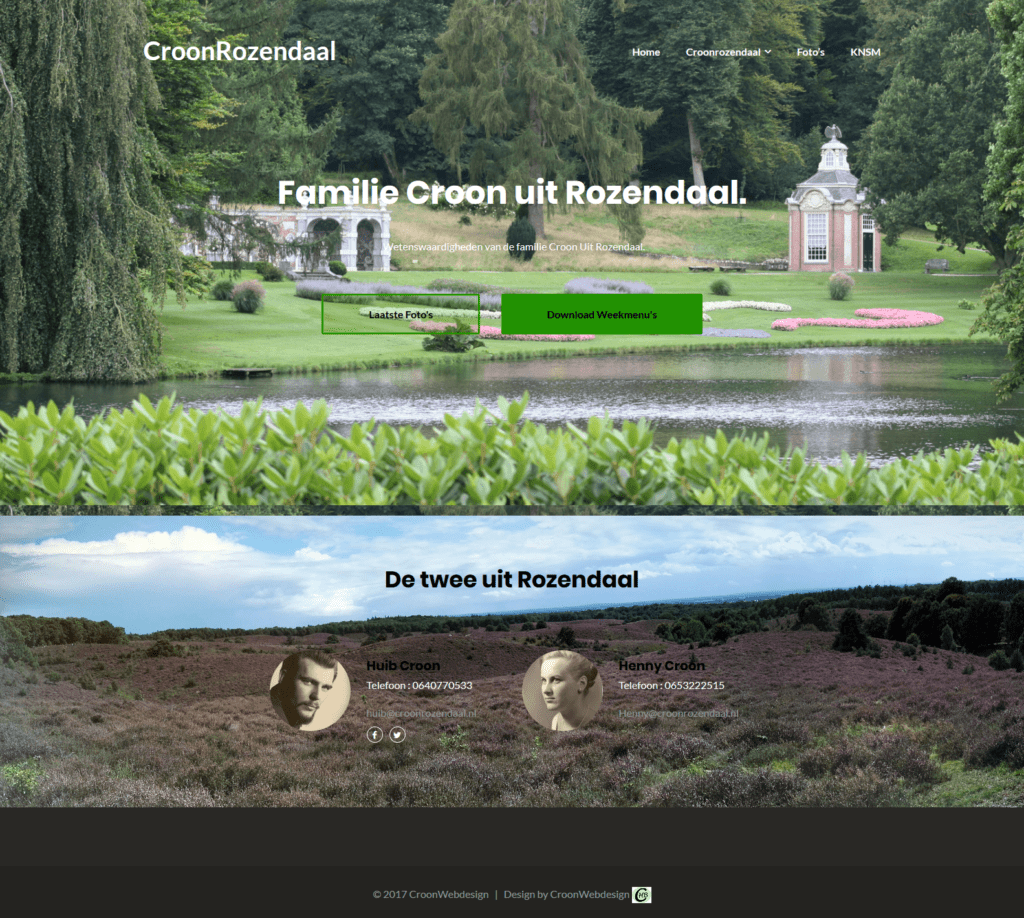 Prive site van Familie Croon uit Rozendaal