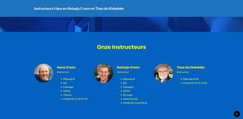 Hans en Natasja Croon en Theo de Kinkleder Rijinstructeurs